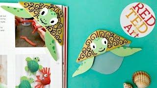 Easy Turtle Bookmark Corner DIY (Bonus Paper Craft Video)