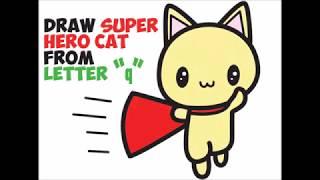 Wie zeichnet man einen Cartoon-Super-Helden-Katze Einfach Schritt für Schritt Zeichnen für Kinder