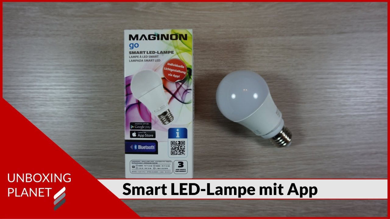 smart led lampe mit app unboxing video youtube. Black Bedroom Furniture Sets. Home Design Ideas