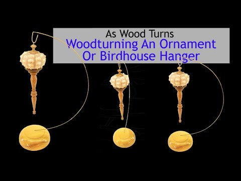 Woodturning An Ornament Or Birdhouse Stand