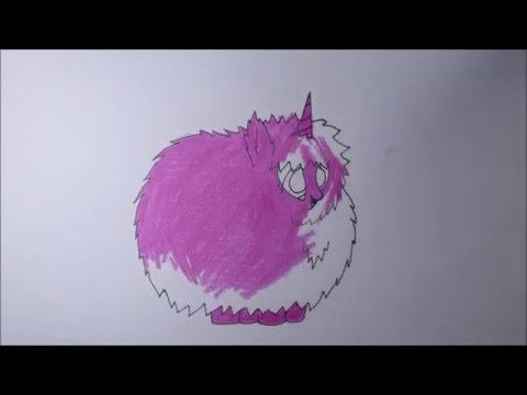 how to draw a pink fluffy unicorn