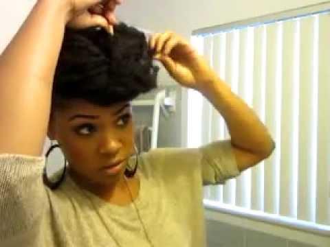 Janelle Monae Inspired Hair Tutorial Youtube