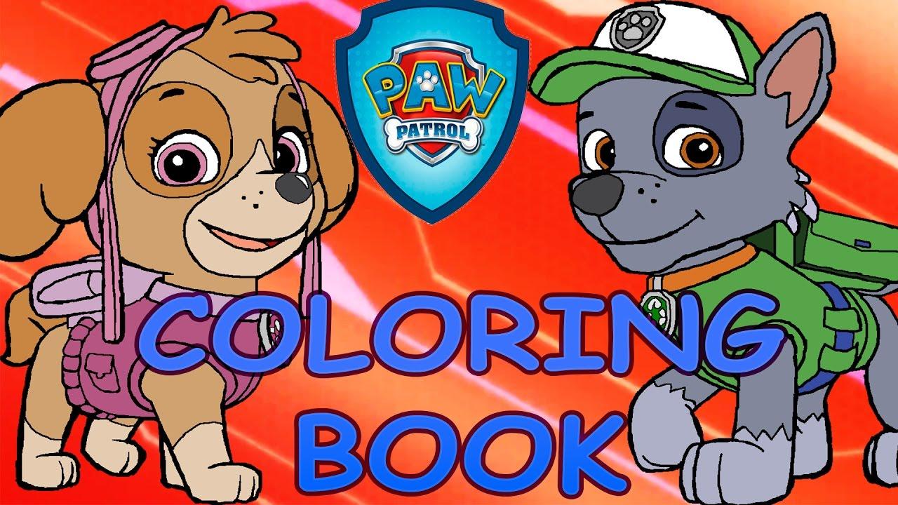 Coloring book Paw Patrol Skye VS Rocky DIY Challenge ...