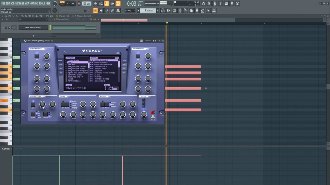 Drake Beat Tutorial in FL Studio 20 [Free Project Download]