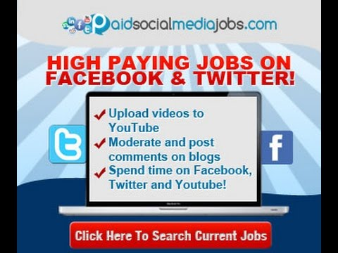 Paid Social Media Jobs for free