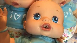 Baby Alive BOYS Feeding 3 Baby Alive wets n wiggles BOYS!!!!!!  boy dolls anatomically correct dolls