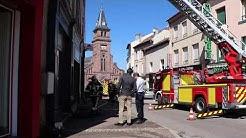 Incendie au centre de Saint-Dié-des-Vosges