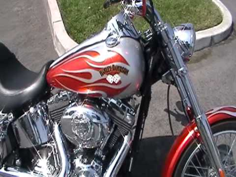 Harley Davidson Deuce >> 2007 FXSTD, HARLEY DAVIDSON, DEUCE, FACTORY CUSTOM PAINT, ORANGE AND SILVER, PIPES, HIGH FLOW ...
