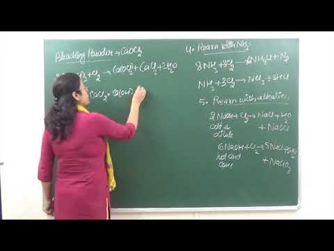 CHEM-XII-7-09 Chlorine (2017) Pradeep Kshetrapal Physics channel