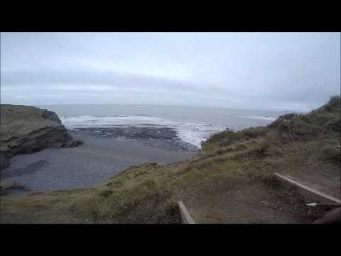 GoPro - Coastal path dog walking near Borth, Ceredigion. (Je