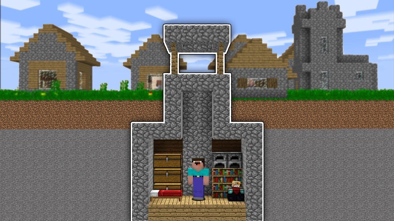 Minecraft NOOB vs PRO SECRET HOUSE BASE in Minecraft ...