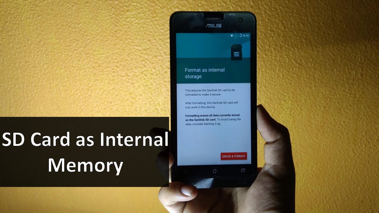 How to use SD memory card as Internal memory | Increase ...