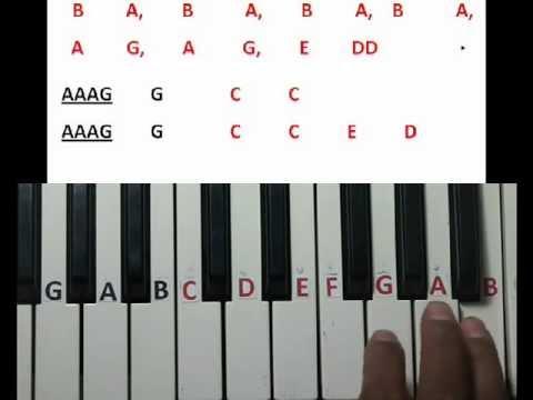 Ne ne nani ne (Eega) song learning on keyboard part 2