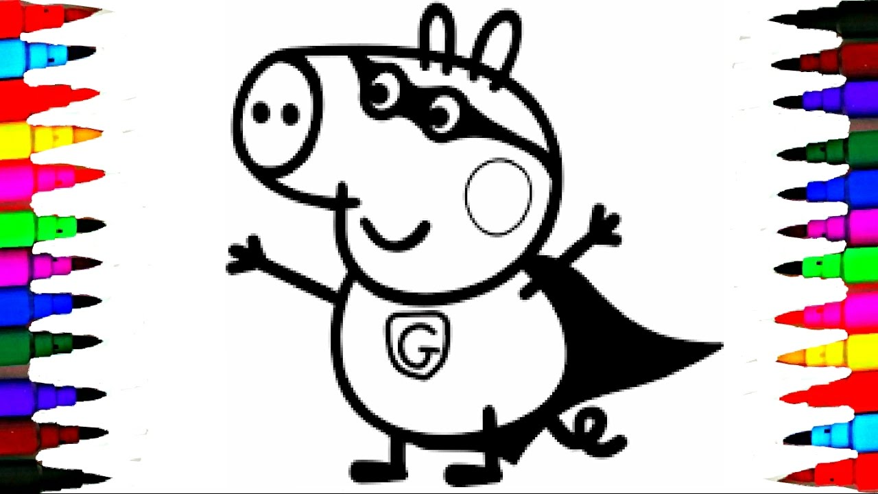 Coloring Pages Peppa Pig Charlie The George Pig Compilation Coloring