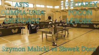 Szymon Malicki vs Sławek Dosz [table tennis full HD]