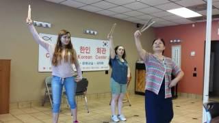 Clarksville Korean drum dance practice