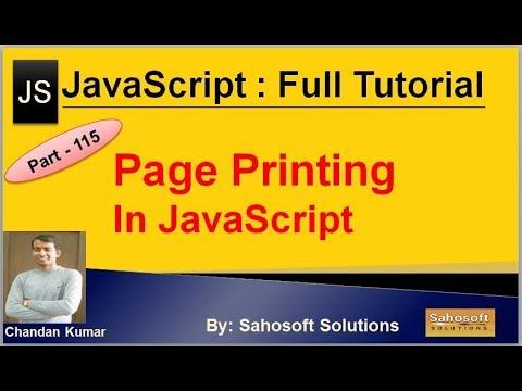 Page printing in JavaScript | JavaScript Full Tutorial in Hindi thumbnail