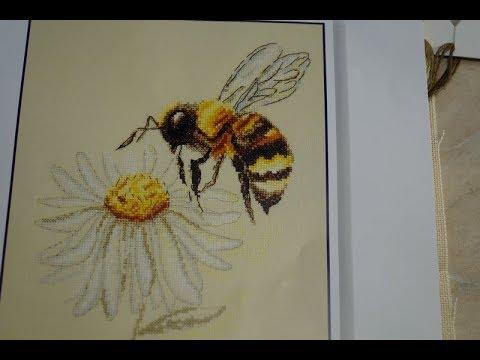 Вышивка гладью пчела