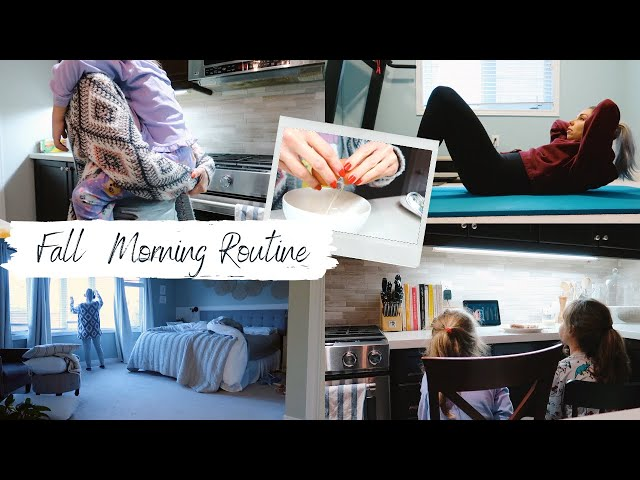 Fall Morning Routine 2020 | Parenting, Working and Staying Organized