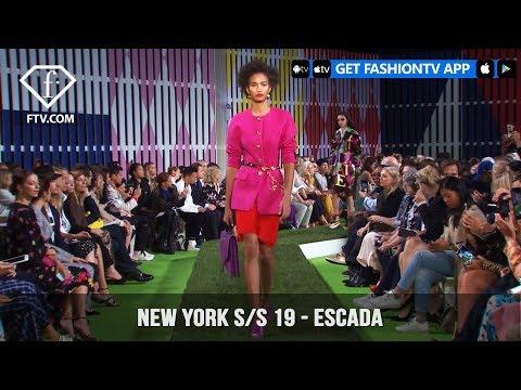 New York Fashion Week Spring/Summer 2019 -  Escada | FashionTV | FTV