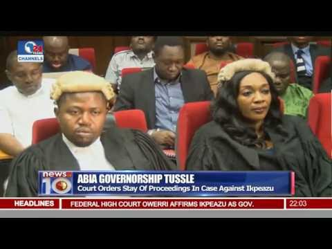 New@10: Court Orders Stay Of Proceedings In Case Against Ikpeazu 08/07/16 Pt.1