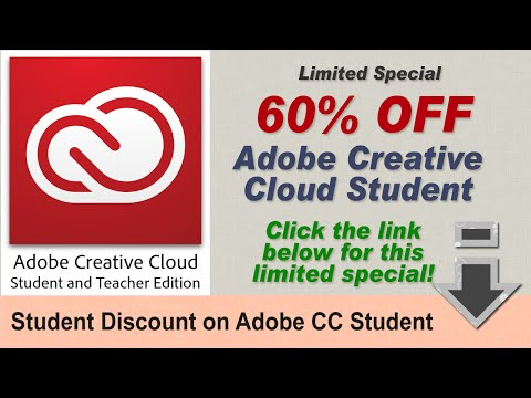 2018 Adobe Creative Cloud Student Deal: 70% Off Adobe CC Student!