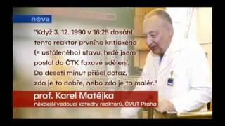20. výročie reaktora VR-1 Vrabec v televíznych novinách TV Nova