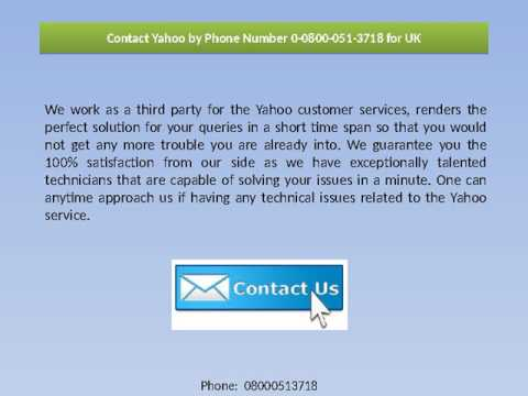 Yahoo Telephone and Tech Support Number for UK and USA