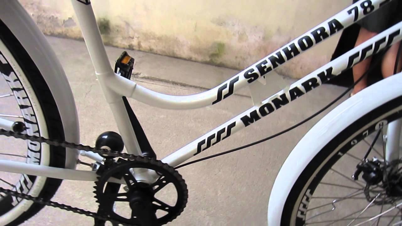 Adesivo De Parede Onde Comprar ~ Bicicleta Monark M 1978 senhora customizada YouTube