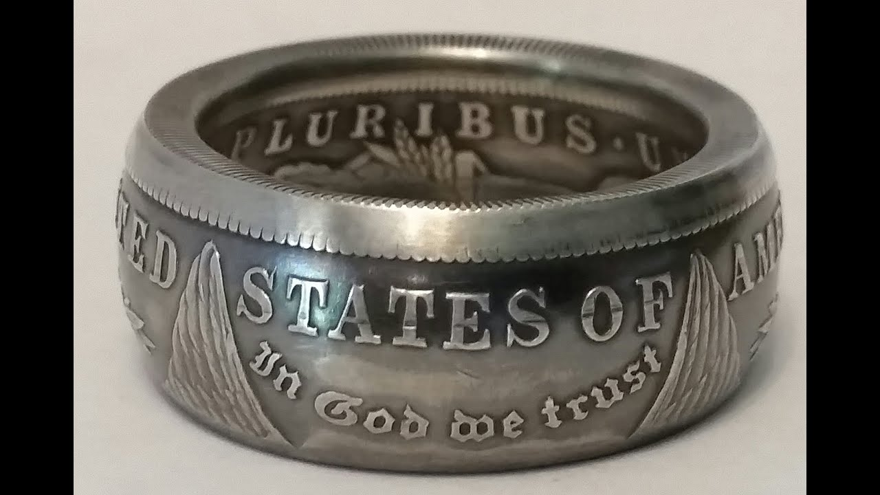How to Make a Silver Morgan Dollar into a Coin Ring (abridged) Full version in description