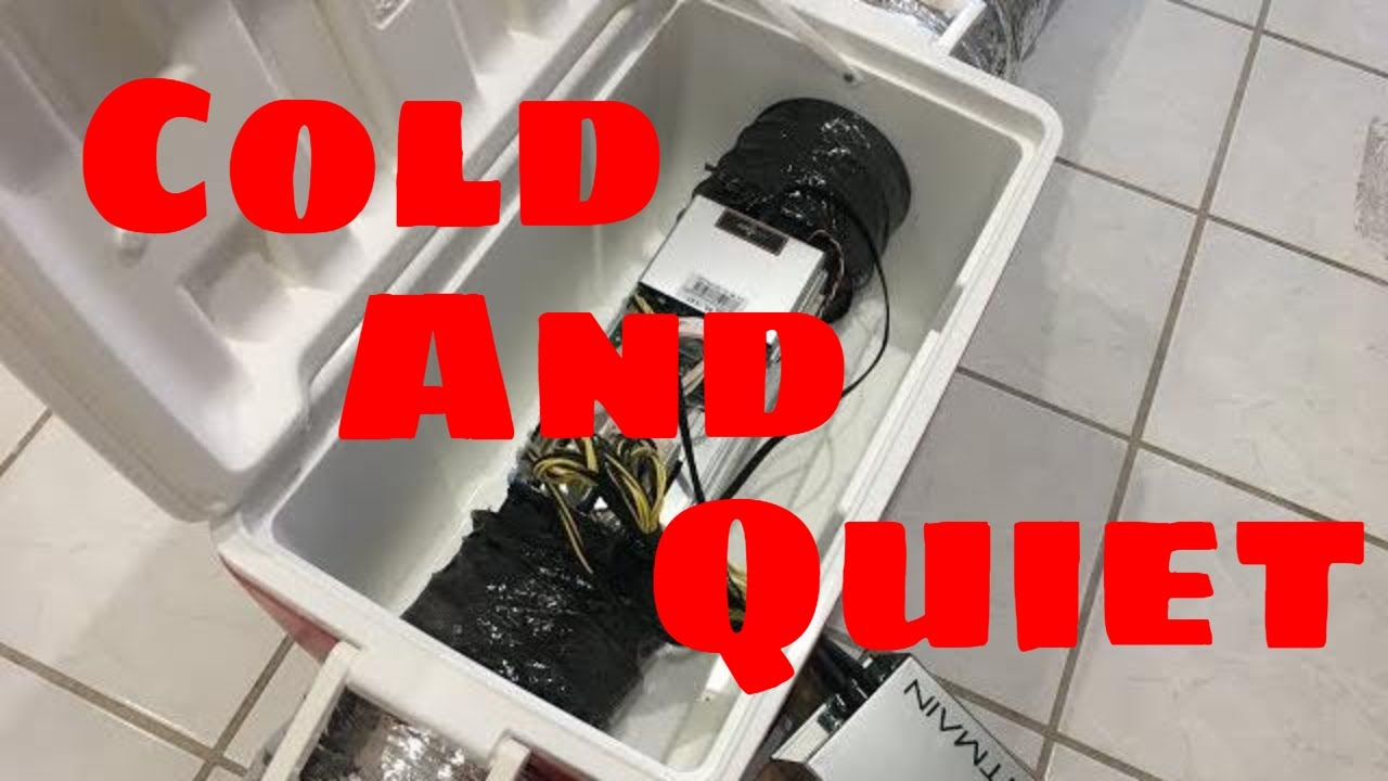 How to soundproof Antminer s9 in a cooler - ASIC Cooling silencer DIY  cooler box 2018