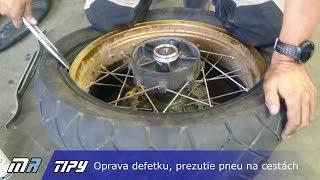 MR Tipy: Oprava defetku, vyzutie pneu a výmena duše na cestách - motoride.sk