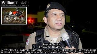 Comando 190 Araxá - Moto usada pelo menos 05 assaltos e 03 presos em Araxá.