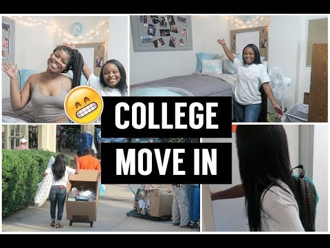 COLLEGE MOVE-IN DAY VLOG 2017