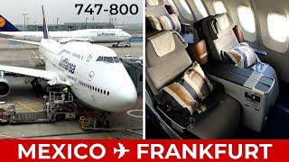 Gambar cover Lufthansa 747-8i Business Class Mexico to Frankfurt LOWER DECK ✈ Trip Report Dinner + Breakfast