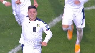 Srbija - Škotska   Gol Jovića u 90. Minutu za 1:1   SPORT KLUB FUDBAL