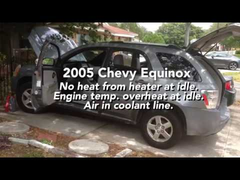 Equinox Air In Cooling System Overheating At Idle No Heat