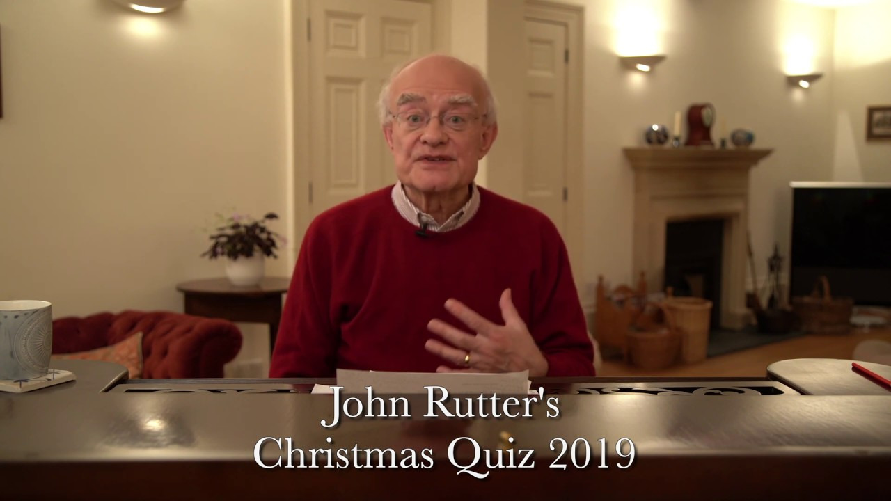 John Rutter's Christmas Quiz 2019: Introduction