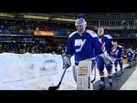 Rangers, Islanders Enter Yankee Stadium Rink