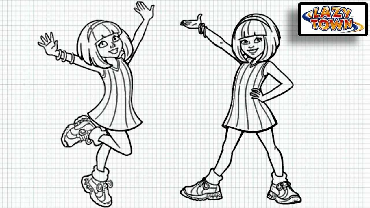 Coloring Pages Lazy Town Characters