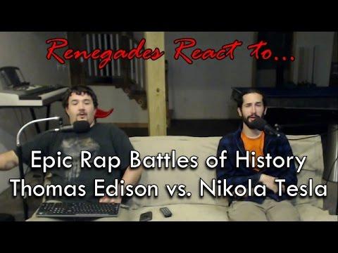 Renegades React to... Epic Rap Battles of History Nikola Tesla vs. Thomas Edison