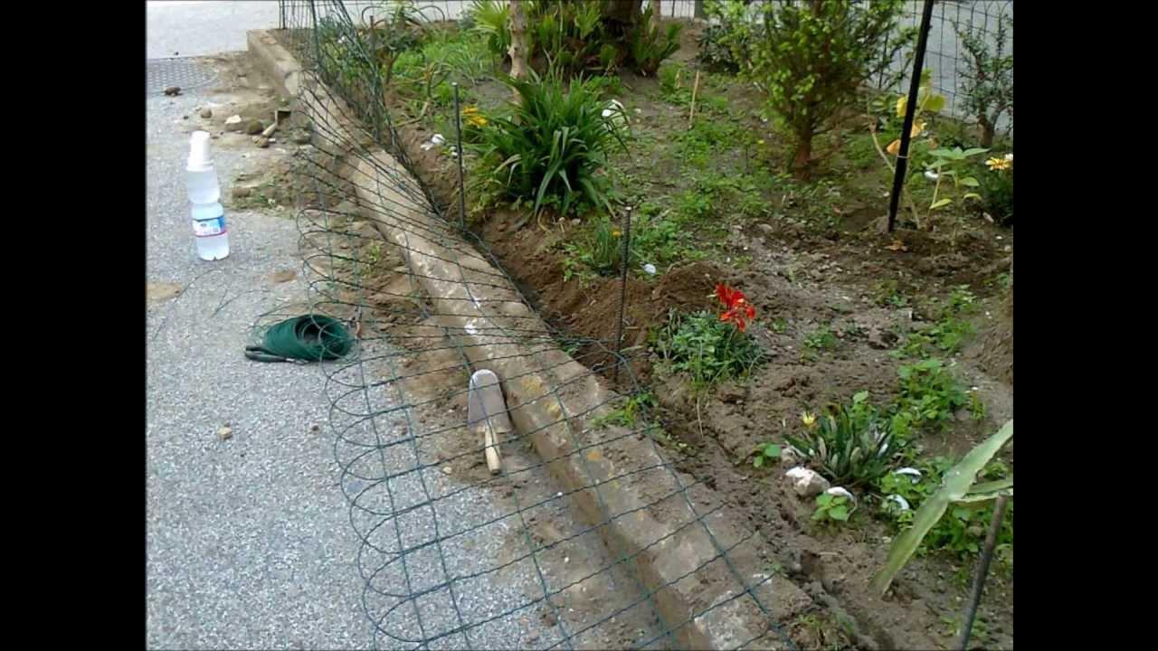 03 06 2013 completamento recinzione aiuole v augusto for Recinzione aiuole