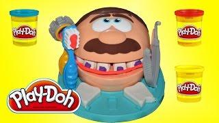 Плей до доктор мистер зубастик на русском, лечим зубы Play Doh Doctor Плей до обзор на русском