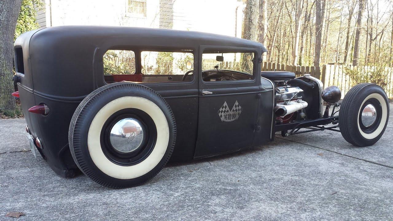 1930 Ford Model A Sedan Bagged Amp Chopped Walk Around Youtube