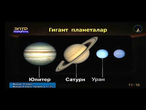 Жер тибиндеги жана гигант планеталар.
