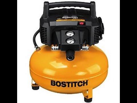 Review Bostitch 6 Gallon Pancake Air Compressor Youtube