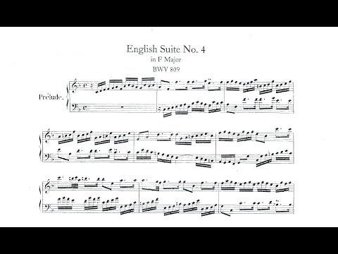 Johann Sebastian Bach English Suite No 4 in F Major BWV 809 for Piano