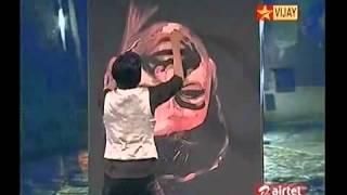 Reverse Painting of ilayathalapathy Vijay