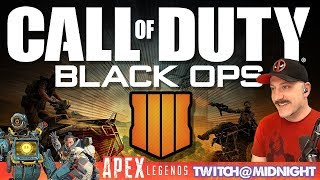 COD Black Ops 4 // Apex @ Midnight on Twitch / PS4 Pro / Call of Duty Blackout Live Stream Gameplay