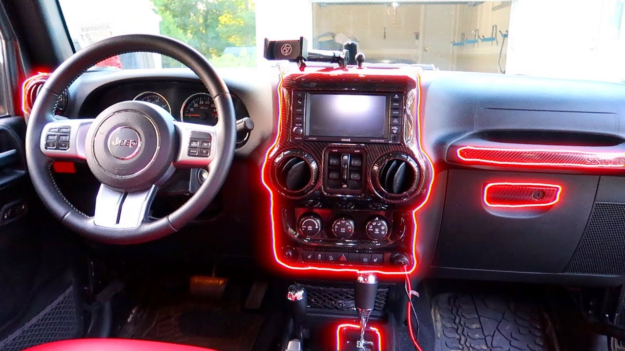 Easy Mod Jeep Wrangler Carbon Fiber Interior Upgrade Youtube